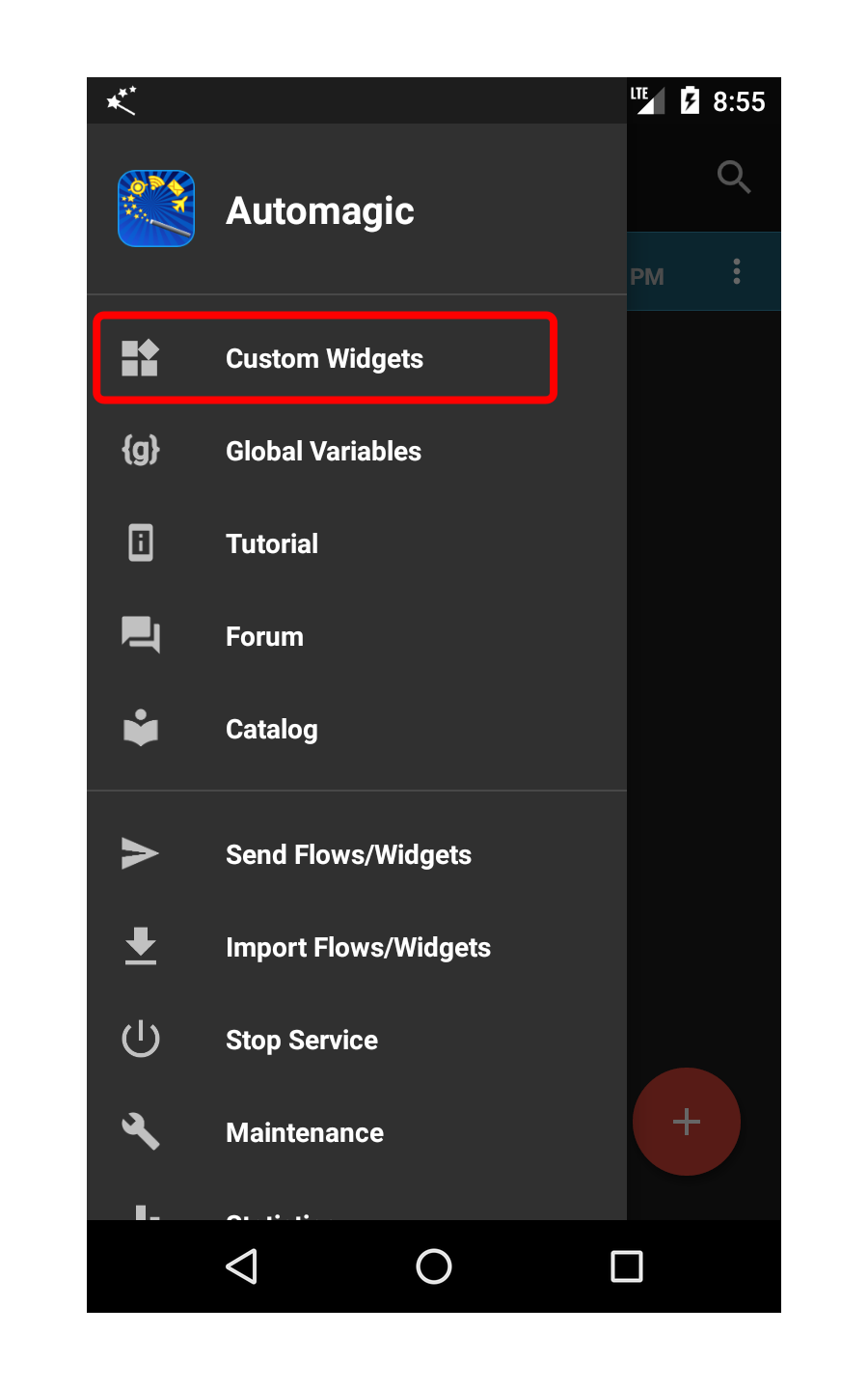 Flow List Navigation Drawer